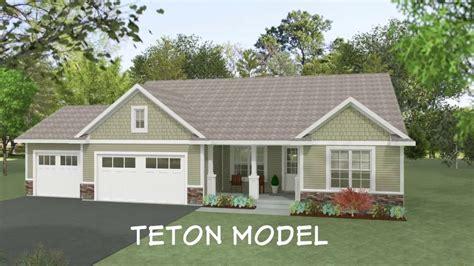 teton home floor plan  wausau homes youtube
