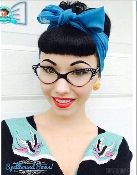 bettie bangs  cute frames rockabilly hairstyles