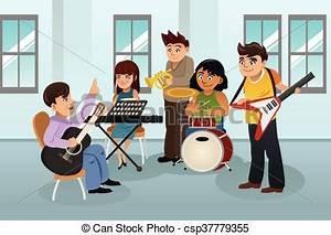 School Music Room Clipart - ClipartXtras