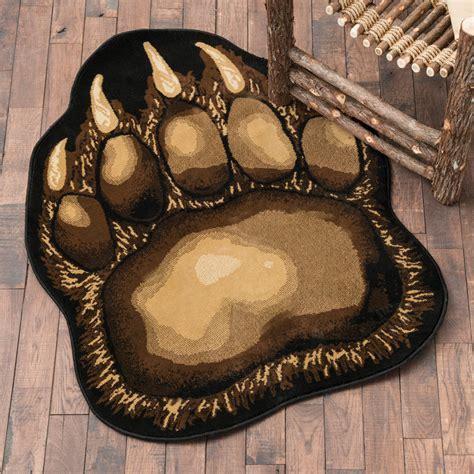 Wildlife Rugs: Small Bear Claw Rug Black Forest Decor