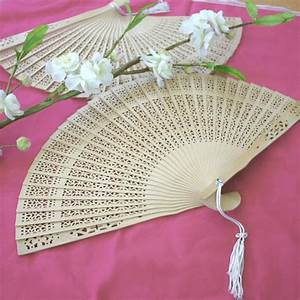 sandalwood fan With fans as wedding favors