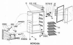 Cabinet Parts Diagram  U0026 Parts List For Model Mcwc45a Magic