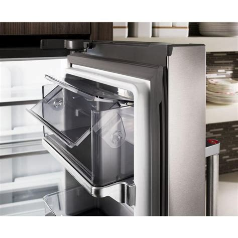 kitchenaid counter depth french door black stainless steel
