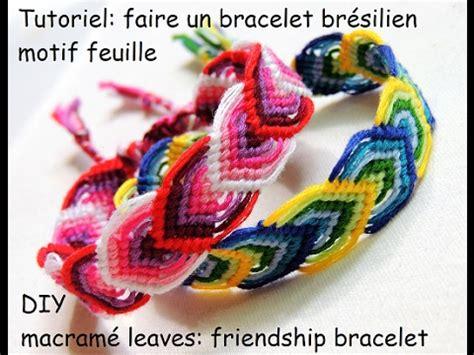 Comment Faire Un Bracelet élastique Tutoriel Faire Un Bracelet Br 233 Silien Motif Feuille Diy Macram 233 Leaves Friendship Bracelet