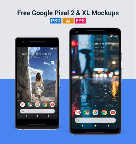 These google pixel clay mockups are designed for android devices. Free Vector Google Pixel 2 & Pixel 2 XL Mockup in PSD, Ai ...