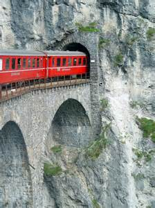 Switzerland Train Tunnel