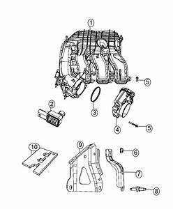 2014 Dodge Challenger Bracket  Front Support  Intake  Intake Manifold  Front Support  Intake