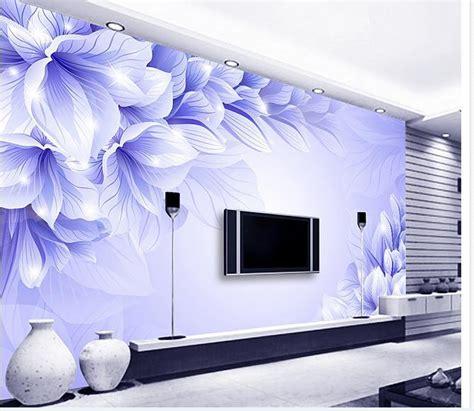 papel de parede  stereo blue flower blue dream fashion