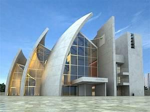 Three fan-style architecture 3d model-Download 3d Model ...