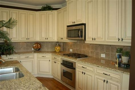 st cecilia light granite kitchens antique white cabinets with st cecilia light granite 8213