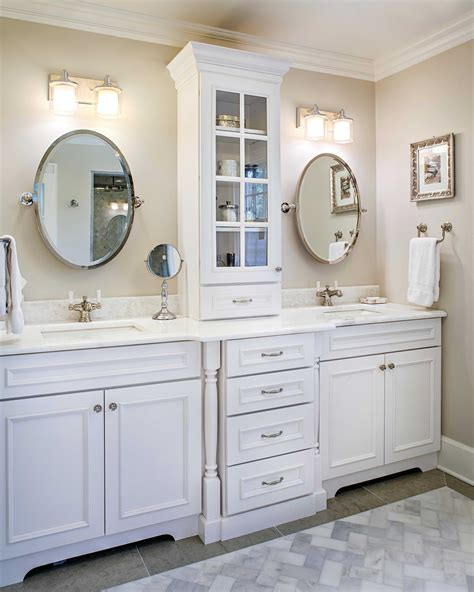 double vanity with linen cabinet bathroom vanities with linen cabinet trends and vanity