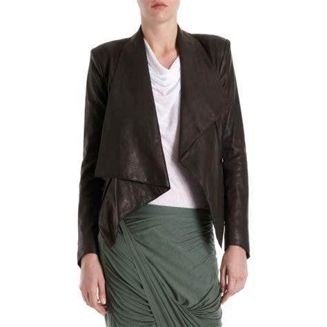 Helmut Lang Draped Jacket - helmut lang drape front jacket in black lyst