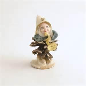 vintage pinecone elf gnome christmas ornament