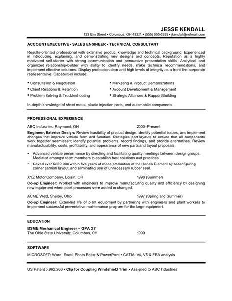 doc 550792 mechanical engineer resume exle bizdoska