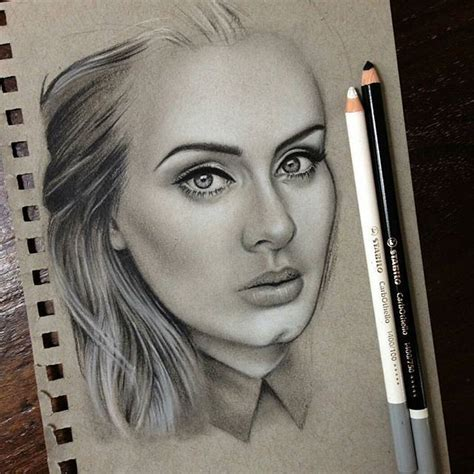 atdrawberryart created  beautiful portrait  adele