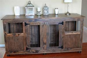 best 25 dog crate furniture ideas that you will like on With dog crate buffet table