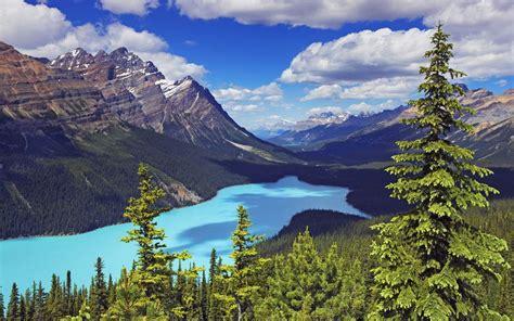 banff national park canada moraine lake landscape blue