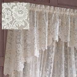 amazon com jc penney shari lace shaped valance cream