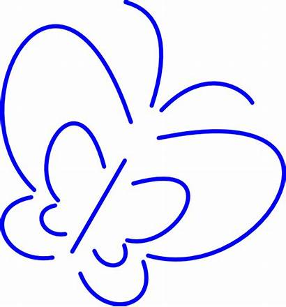 Butterfly Simple Outline Clipart Clip Mariposa Vector
