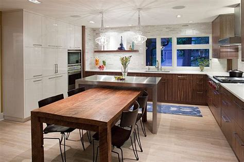 kitchen island with table combination island and dining table combo kitchen 2