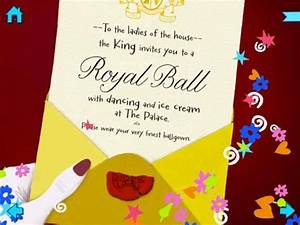 ipad books for kids cinderella by nosy crow ipad insight With cinderella invitation to the ball template