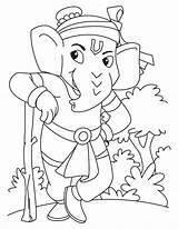 Coloring Ganesha Lord Pages Ganesh Sketch Guard Hanuman National Drawing Colouring Standing Sketches Bala Rama Portal Getcolorings Getdrawings Books Printable sketch template