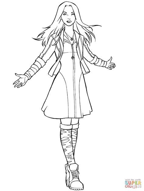 avengers scarlet witch coloring pages avengers scarlet witch coloring page free printable