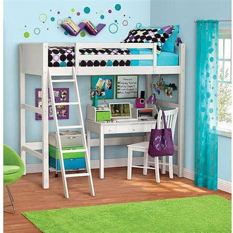 loft beds at walmart your zone zzz collection loft bed with mattress white