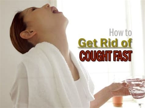 How To Get Rid Of Cough Fast Youtube