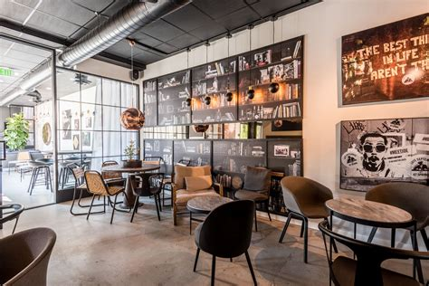 The cost was over $350,000. Indoor seating 8532 Melrose Ave, LA | Coffee shops interior, Coffee shop, Juice bar interior