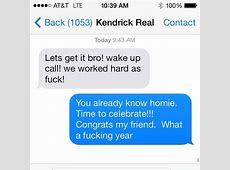 Macklemore Reveals His Text Message To Kendrick Following