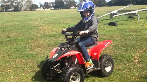 50cc Kids 4 Wheel Motorbike Start Up