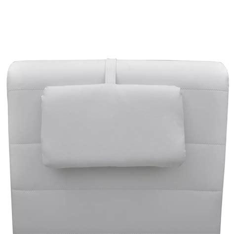 la chaise longue boutique en ligne la boutique en ligne chaise longue blanche avec 2 pieds et appui tête vidaxl fr
