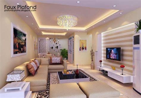 La Decoration Des Salon Decoration Salon Faux Plafond D 233 Co Contemporaine