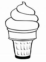 Coloring Ice Cream Pages Cone Getcolorings sketch template