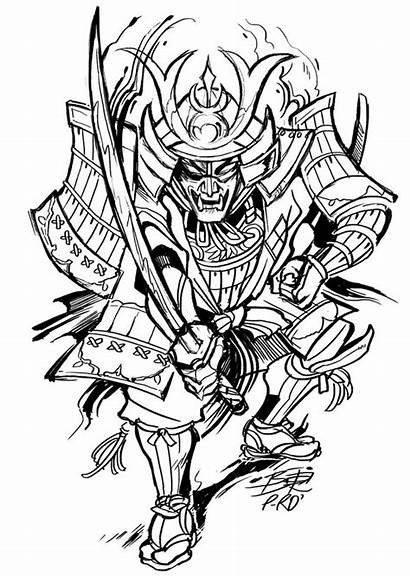 Tattoo Drawings Samurai Tattoos Designs Cool Drawing