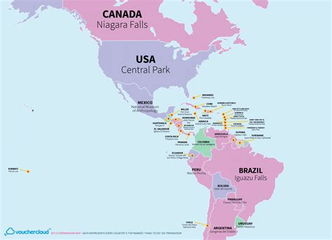 tourist attraction   country   world   map
