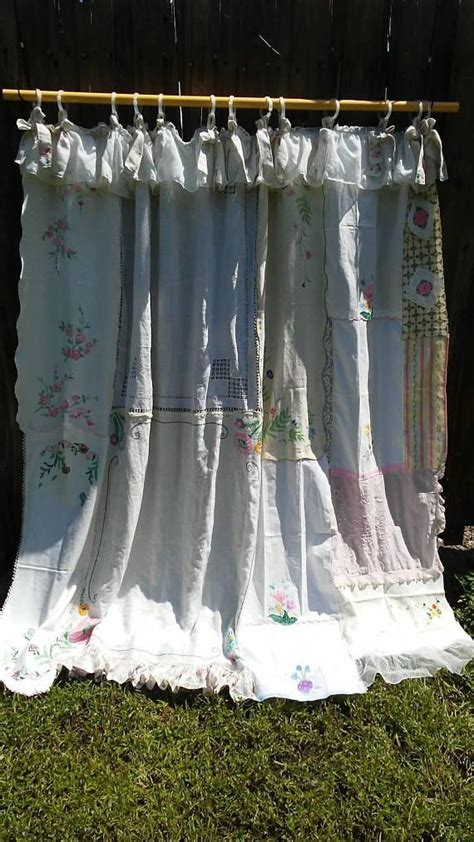shabby chic curtains ideas  pinterest pink