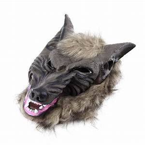 2018, Hot, Sale, Latex, Animal, Wolf, Head, Mask, With, Hair, Halloween, Party, Fancy, Scary, Dress, Costume