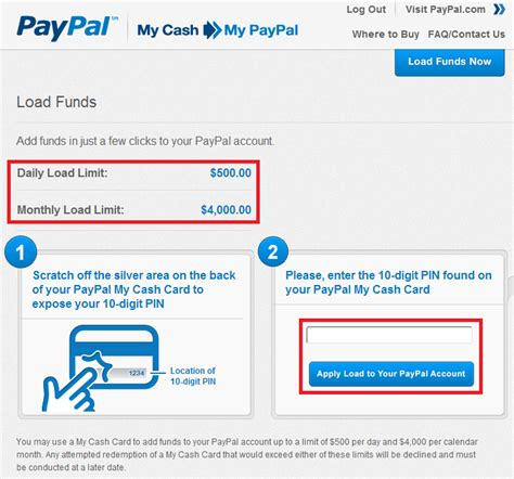 load funds  paypal cash travel  grant