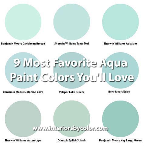 popular aqua paint color benjamin dolphin s cove interiors by color 1