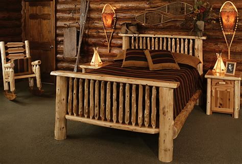 cedar log bed kits rustic furniture mall  timber creek