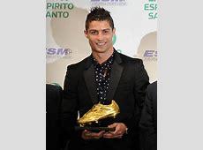 Cristiano Ronaldo receives the European Golden Shoe award 2011