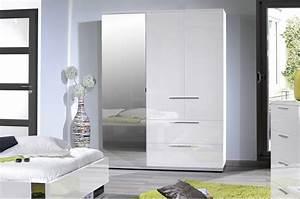 Armoire Laqué Blanc : armoire de chambre design blanc laqu 3 portes 2 tiroirs pour armoire dressing ~ Teatrodelosmanantiales.com Idées de Décoration