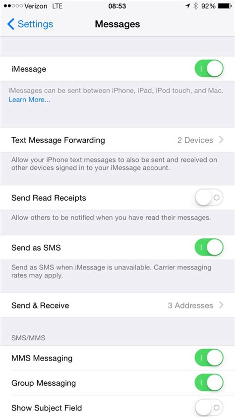 will my iphone forward why isn t my phone showing the text messaging forwarding