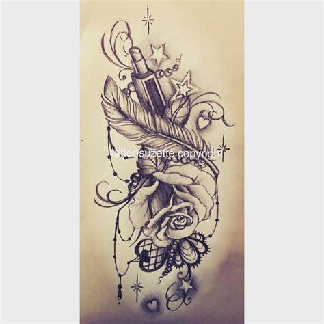 Tatouage Cuisse Rose Dentelle Tattoo Art