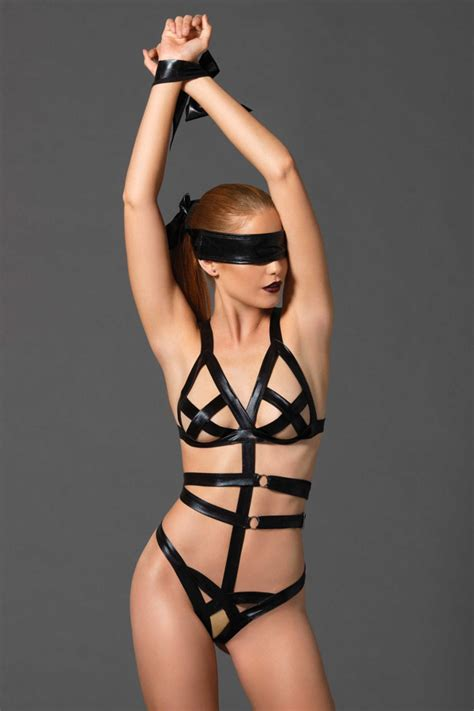 intimo bondage similpelle nera vendita intimo lingerie bondage