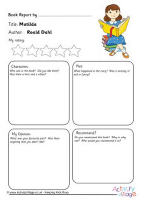 character study printables