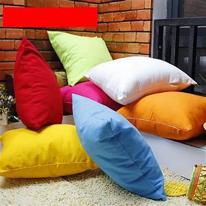 bright solid color throw pillow case for sofa chair couch With bright colored pillows for couch