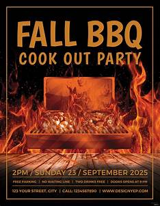 Certificates Of Appreciation Templates For Word Free Fall Bbq Party Flyer Template In Adobe Photoshop